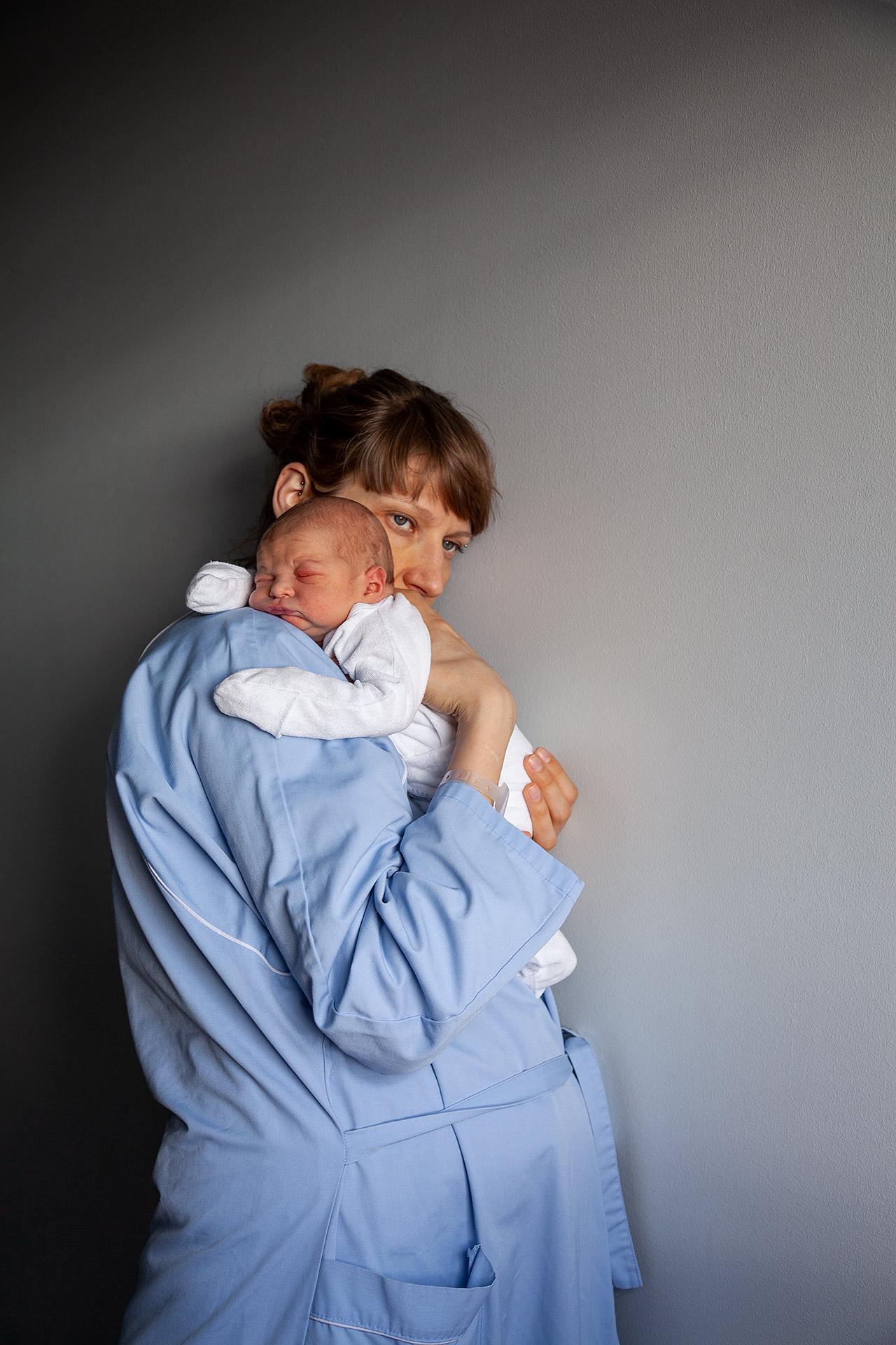 Mother holding a new born baby